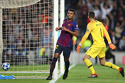October 24, 2018 - Barcelona, Spain - Barcelona, Spain, October 24, 2018: Rafinha Alcantara of FC Barcelona celebrates after scoring his side's opening goal during the UEFA Champions League, Group B football match between FC Barcelona and FC Internazionale on October 24, 2018 at Camp Nou stadium in Barcelona, Spain (Credit Image: © Manuel Blondeau via ZUMA Wire)