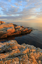Morning light on Appledore Island in the Isles of Shoals off the coast of Portsmouth, New Hampshire.