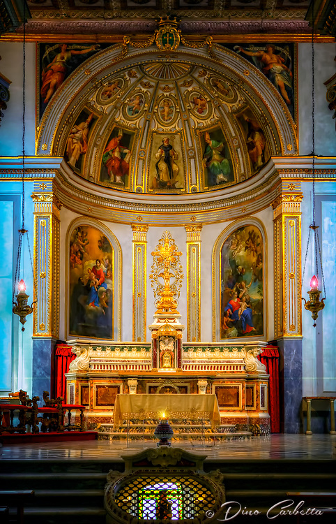 """""""Sant'Antonino protects the altar of his basilica in Sorrento""""..."""