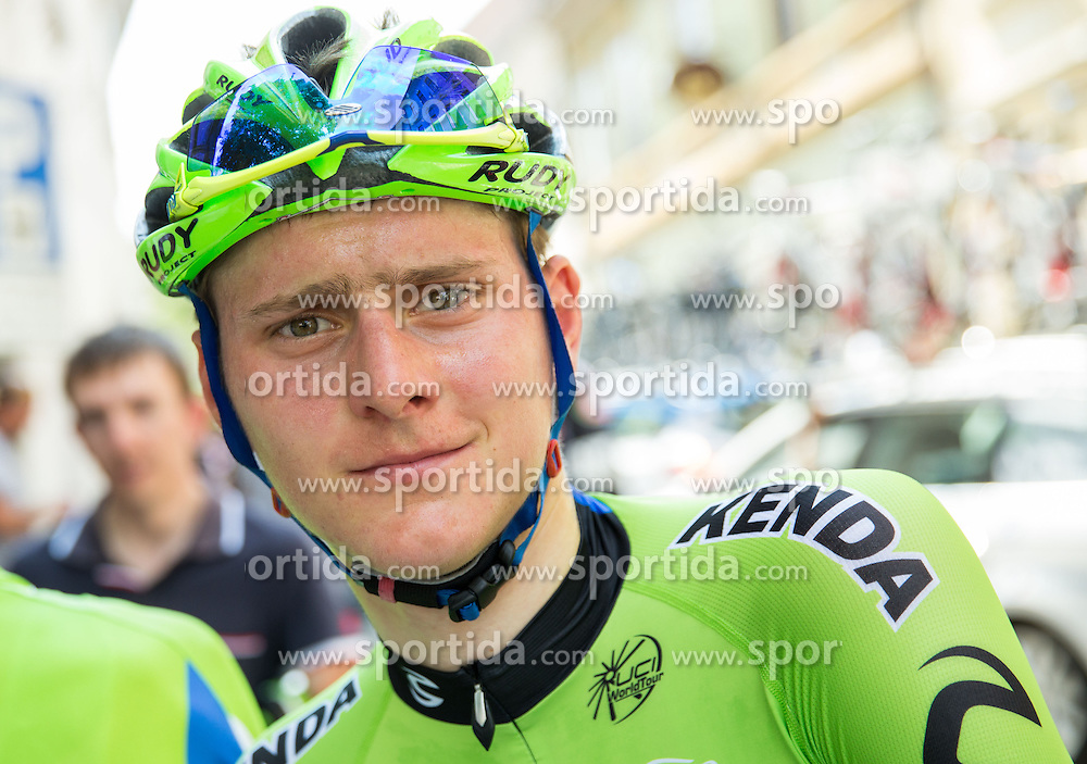 Matej Mohoric of Cannondalle at finish line after the Stage 4 from Skofja Loka to Novo Mesto (153 km) at 21st Tour of Slovenia cycling race, on June 22, 2014 in Novo mesto, Slovenia. Photo By Vid Ponikvar / Sportida
