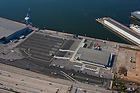 Aerial image of Baltimore's passenger terminal  at the Port of Baltimore