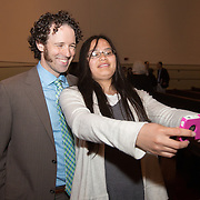 Temple Israel's 7th grade stepping up ceremony and high school graduation is held at Temple Israel on May 29, 2015 in Boston, Massachusetts. (Photo by Elan Kawesch)