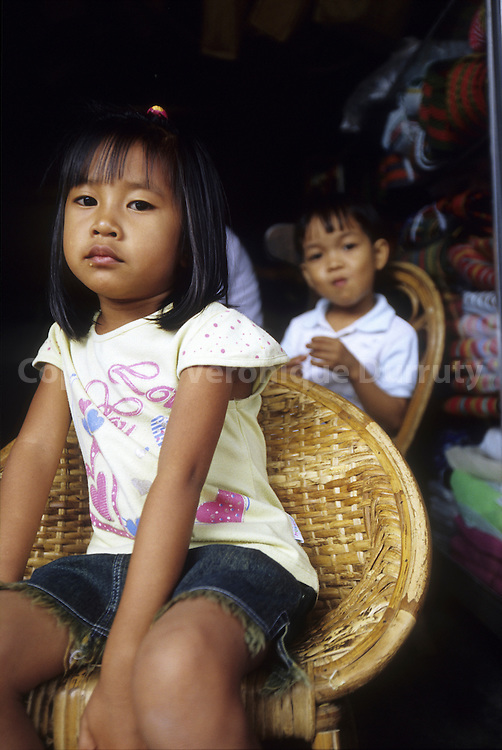 CHILDREN IN A MOUNTAIN VILLAGE OF THE CORDILLERA, NORTH LUZON, THE PHILIPPINES