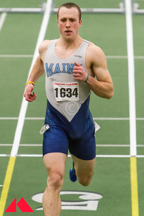 Boston University Terrier Classic indoor track & field meet, mens 60 meter hurdle, James Reed, Univ of Maine
