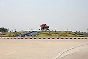Roundabout. Nap Pyi Taw, Myanmar. 2012