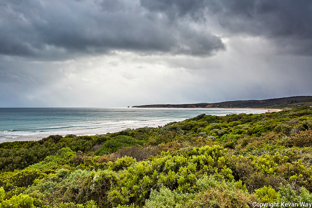 storm approaching Aireys Inlet