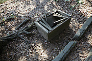 old broken abandoned shrine money collection box Japan