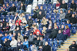 South stand.<br /> Falkirk beat Cowdenbeath in a penalty shoot-out, second round League Cup tie played at The Falkirk Stadium.
