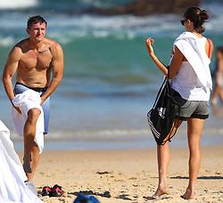EXCLUSIVE: Spanish tennis player Garbine Muguruza visits Bondi Beach with her coach Sam Sumyk. 06 Jan 2018 Pictured: Garbiñe Muguruza; Sam Sumyk. Photo credit: KHAPGG / MEGA TheMegaAgency.com +1 888 505 6342
