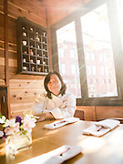 Chef Moon at her restaurant in Manyunk, PA.