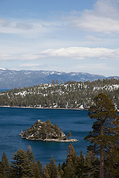 """""""Emerald Bay 1"""" - This is a photograph of Fannette Island in Emerald Bay, Lake Tahoe."""