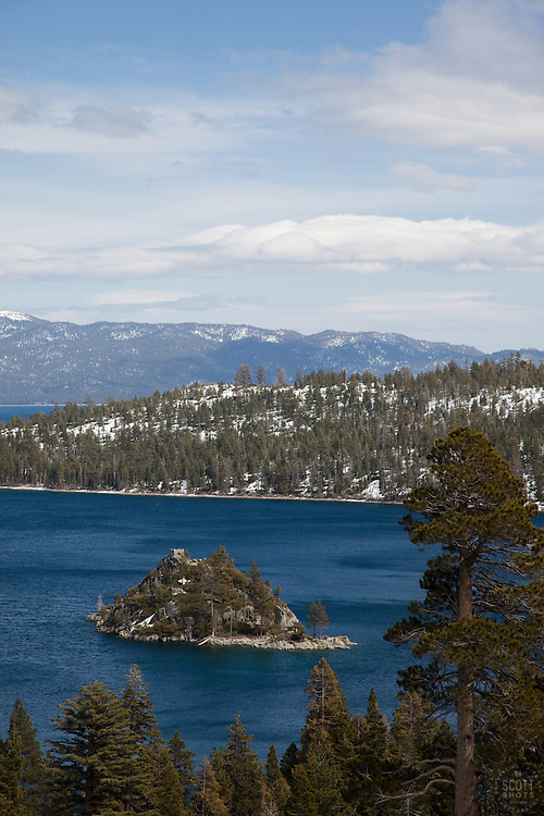 """Emerald Bay 1"" - This is a photograph of Fannette Island in Emerald Bay, Lake Tahoe."