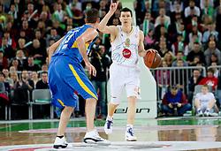 Vlado Ilievski of Olimpija during basketball match between KK Union Olimpija (SLO) and Maccabi Tel Aviv (ISR) of Top 16 Game of Turkish Airlines Euroleague, on February  17, 2011 in SRC Stozice, Ljubljana, Slovenia.  (Photo By Vid Ponikvar / Sportida.com)