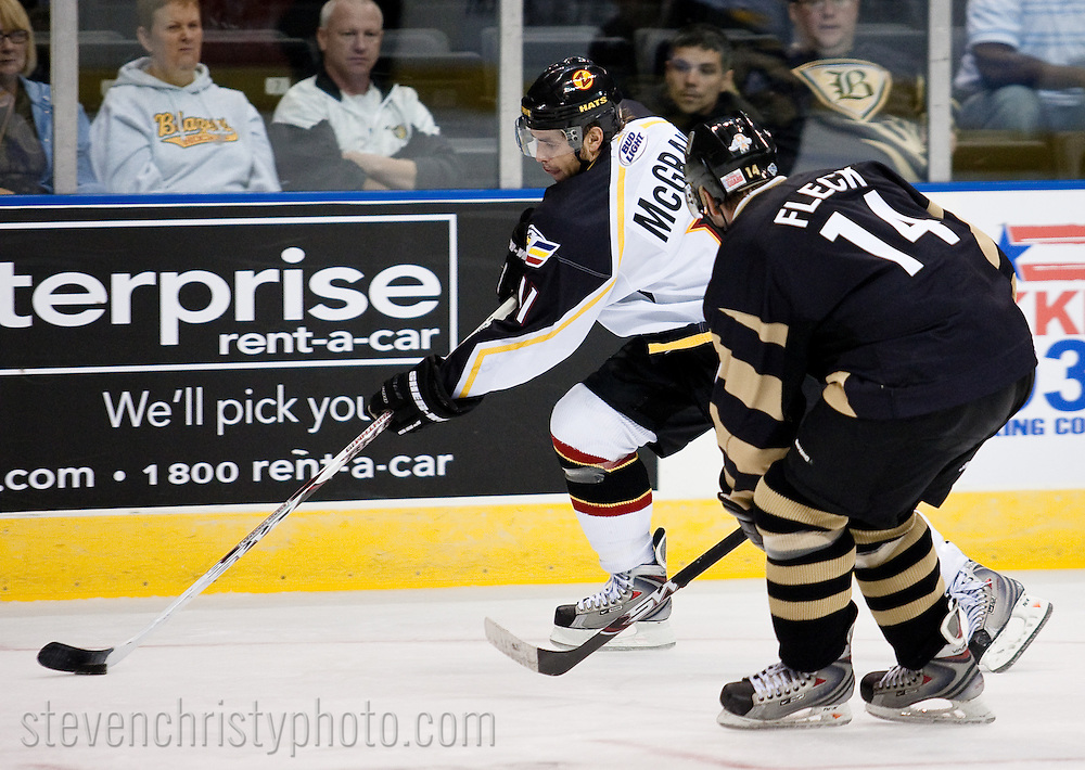 October 26, 2008: The Colorado Eagles of the CHL play against the Oklahoma City (OKC) Blazers at the Ford Center in Oklahoma City, OK.