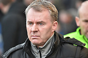 Oldham Athletic New Manager, John Sheridan during the Sky Bet League 1 match between Oldham Athletic and Bury at Boundary Park, Oldham, England on 23 January 2016. Photo by Mark Pollitt.