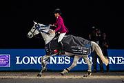 Luciana Diniz - Winningmood<br /> FEI Longines FEI World Cup Paris 2018<br /> © DigiShots