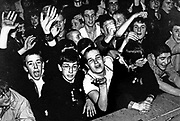 A crowd of young fans at a Madness gig, Ska, 2 Tone, UK 1980