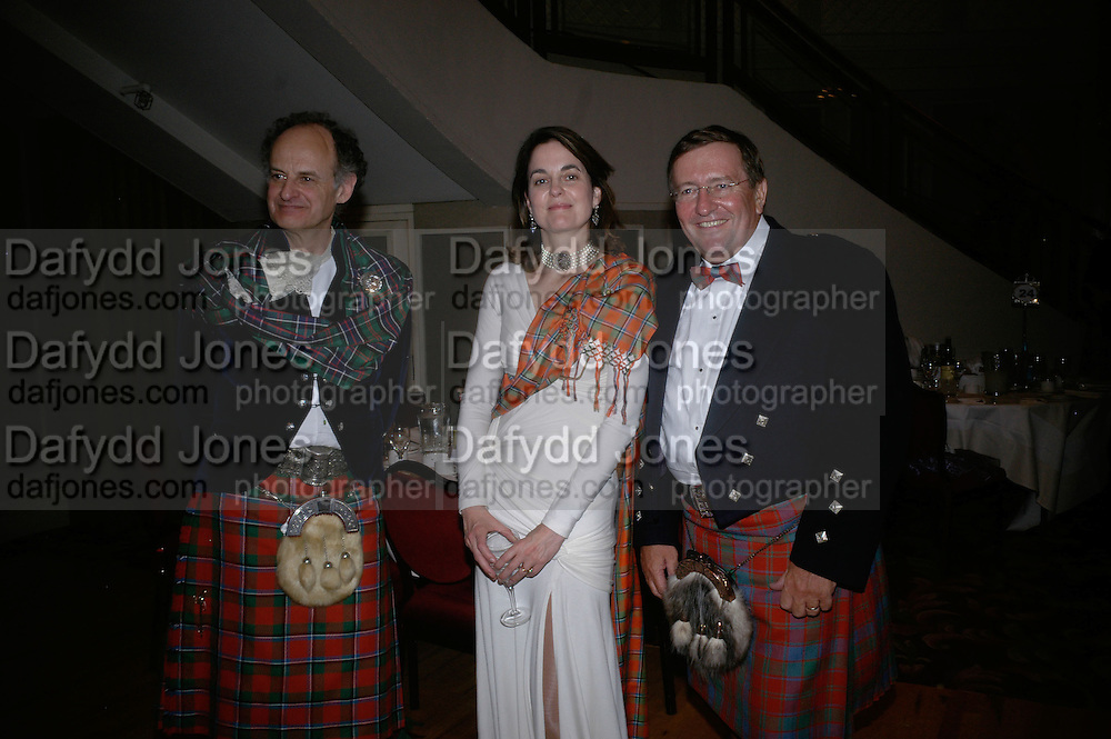 Christopher Thompson, Claire Enders and David Reid chairman of Tesco, The Royal Caledonian Ball 2007. Grosvenor House. 4 May 2007.  -DO NOT ARCHIVE-© Copyright Photograph by Dafydd Jones. 248 Clapham Rd. London SW9 0PZ. Tel 0207 820 0771. www.dafjones.com.