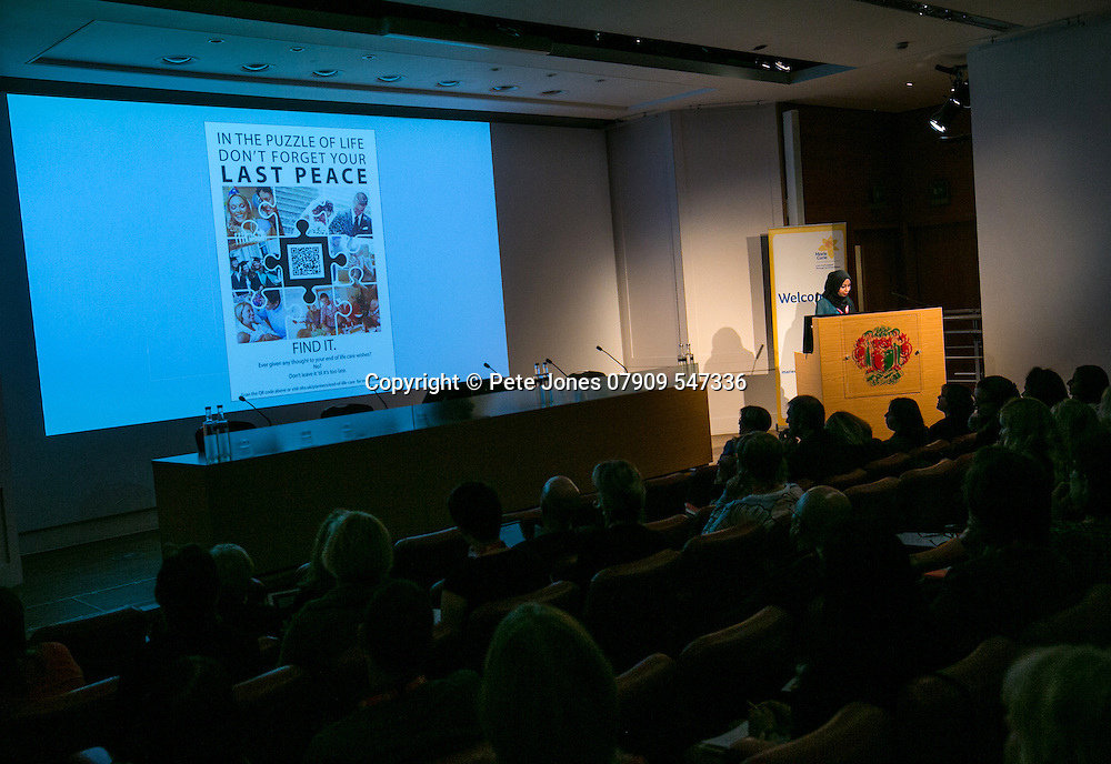 Marie Curie Palliative Care;<br /> Miss Doa'a Kerwat;<br /> Round the Clock Conference 2016;<br /> Royal Soc of Medicine, Wimpole St, London;<br /> 19th October 2016.<br /> <br /> &copy; Pete Jones<br /> pete@pjproductions.co.uk