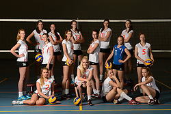 28-06-2013 VOLLEYBAL: NEDERLANDS MEISJES VOLLEYBALTEAM: ARNHEM <br /> Selectie Jeugd Oranje meisjes seizoen 2013-2014 <br /> ©2013-FotoHoogendoorn.nl