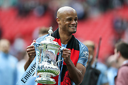Vincent Kompany of Manchester City with the trophy - Mandatory by-line: Arron Gent/JMP - 18/05/2019 - FOOTBALL - Wembley Stadium - London, England - Manchester City v Watford - Emirates FA Cup Final