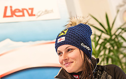 28.12.2013, Hochstein, Lienz, AUT, FIS Weltcup Ski Alpin, Lienz, Riesentorlauf, Damen, Pressekonferenz nach Siegerpraesentation, im Bild Anna Fenninger (AUT) // Anna Fenninger from Austria during a press conference  after ladies giant slalom Lienz FIS Ski Alpine World Cup at Hochstein in Lienz, Austria on 2013/12/28, EXPA Pictures © 2013 PhotoCredit: EXPA/ Michael Gruber