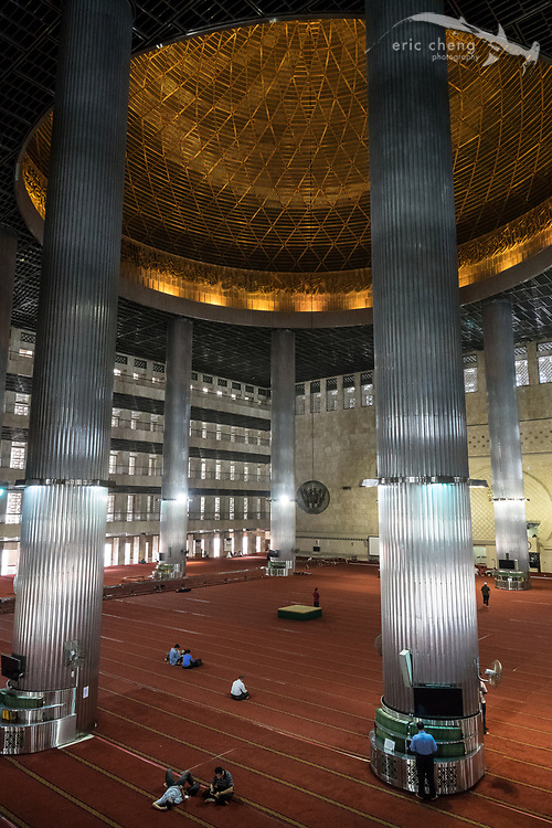 Praying at Istiqlal Mosque, Jakarta, Indonesia