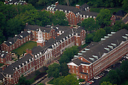 Aerial view of Jefferson Hall and Putnam Hall. © Ohio University
