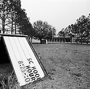 Closed school in the Lakeview neighborhood of New Orleans in the months after Hurricane katrina