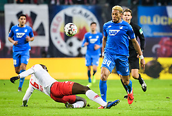 LEIPZIG, Feb. 26, 2019  Hoffenheim's Joelinton (R, front) vies with Leipzig's Ibrahima Konate during a German Bundesliga match between RB Leipzig and TSG 1899 Hoffenheim in Leipzig, Germany, on Feb. 25, 2019. The match ended in a 1-1 draw. (Credit Image: © Kevin Voigt/Xinhua via ZUMA Wire)