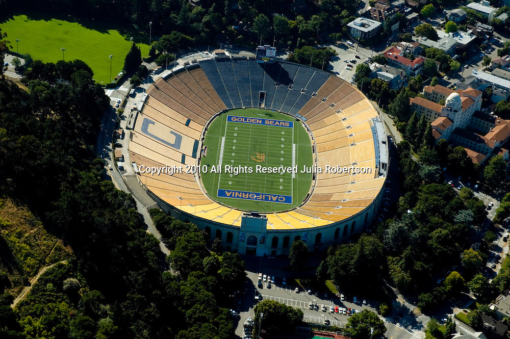 Aerial view of Memorial Stadium in Berkeley, California, University of  California.