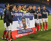 Dundee and Julian Speroni with fans banner presented to him - Crystal Palace v Dundee - Julian Speroni testimonial match at Selhurst Park<br /> <br />  - © David Young - www.davidyoungphoto.co.uk - email: davidyoungphoto@gmail.com