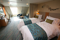 The launch of Royal Caribbean International's Oasis of the Seas, the worlds largest cruise ship..Staterooms,.Family ocean view stateroom.