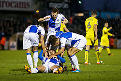 Matt Taylor of Bristol Rovers celebrates after scoring his 2nd goal of the game to make it 2-0 - Rogan Thomson/JMP - 31/12/2016 - FOOTBALL - Memorial Stadium - Bristol, England - Bristol Rovers v AFC Wimbledon - Sky Bet League One.