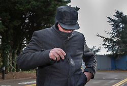 © Licensed to London News Pictures. 06/11/2018. Aylesbury, UK. Francis McDermott, arrives at Aylesbury Crown Court. The retired 75 year old priest, formerly of the Diocese of Northampton, faces 20 charges of non recent sexual offences which took place in High Wycombe and Norwich. He is alleged to have committed the offences between 1971 and 1978 involving victims aged between 14-16. Photo credit: Peter Macdiarmid/LNP