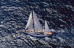 Stock photo of a large sailboat on the water