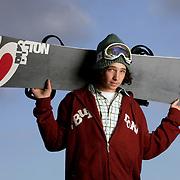 Executive portrait, Luke Mitrani, Burton sponsored snowboarder.