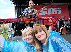 Party at the Palace, Linlithgow, Saturday 12th August 2017<br /> <br /> Stuart &quot;Woody&quot; Wood from the Bay City Rollers performs with his new band Woody's Rollercoasters on the Break Out Stage. His performance attracted some older Rollers fans to the stage.<br /> <br /> (c) Alex Todd | Edinburgh Elite media