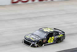 October 5, 2018 - Dover, DE, U.S. - DOVER, DE - OCTOBER 05: Jimmie Johnson driver of the #48 Lowe's for Pros Chevrolet races through turn 1 during Friday's practice for the Monster Energy NASCAR Cup Series Gander Outdoors 400 on October 05, 2018, at Dover International Speedway in Dover, DE. (Photo by David Hahn/Icon Sportswire) (Credit Image: © David Hahn/Icon SMI via ZUMA Press)