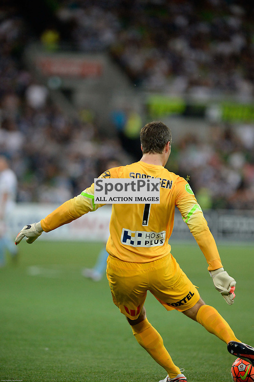Thomas Sorensen (GK) of Melbourne City - Hyundai A-League, 19th December 2015, RD11 match between Melbourne City FC v Melbourne Victory FC at Aami Park in a 2:1 win to City in front of a 23,000+ crowd. Melbourne Australia. © Mark Avellino | SportPix.org.uk