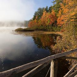 Chocorua Lake in New Hampshire's White Mountains. Fall.