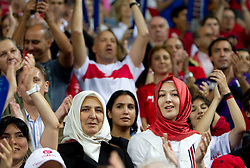 Fans of Turkey during  the eight-final basketball match between National teams of Turkey and France at 2010 FIBA World Championships on September 5, 2010 at the Sinan Erdem Dome in Istanbul, Turkey. (Photo By Vid Ponikvar / Sportida.com)