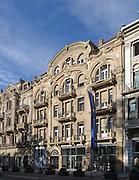 ehem. Hotel Bellevue, Wilhelmstraße, Wiesbaden, Hessen, Deutschland | former hotel Bellevue, Wilhelm Street, Wiesbaden, Hesse, Germany