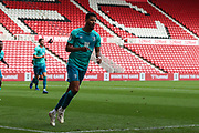GOAL 0-1 AFC Bournemouth forward Dominic Solanke (9) celebrates after scoring his team's first goal during the EFL Sky Bet Championship match between Middlesbrough and Bournemouth at the Riverside Stadium, Middlesbrough, England on 19 September 2020.