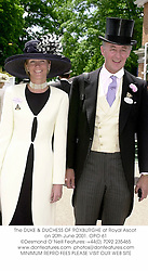 The DUKE & DUCHESS OF ROXBURGHE at Royal Ascot on 20th June 2001. OPO 61