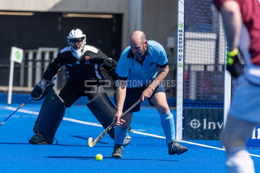 Isca v Ben Rhydding - Men's O50s T1 Final, Lee Valley Hockey & Tennis Centre, London, UK on 06 May 2018. Photo: Simon Parker