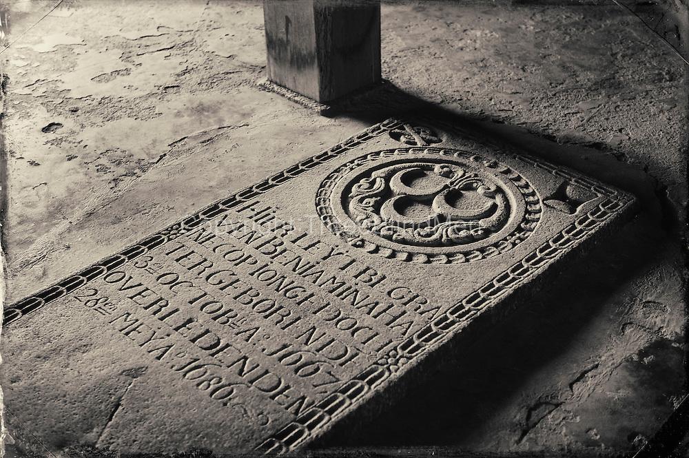 Grave stone at Dutch Church, Kalpitiya.