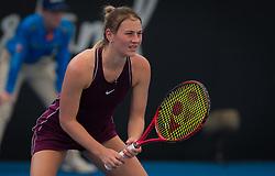 December 28, 2018 - Brisbane, AUSTRALIA - Marta Kostyuk of the Ukraine in action during qualifications at the 2019 Brisbane International WTA Premier tennis tournament (Credit Image: © AFP7 via ZUMA Wire)