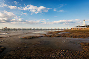 wide angle of Point Lonsdale Pier & Lighthouse