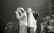 The Happy Mondays, live on stage, circa 1989
